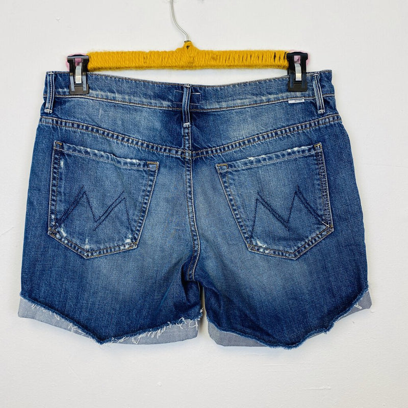 cuffed cut off jean shorts