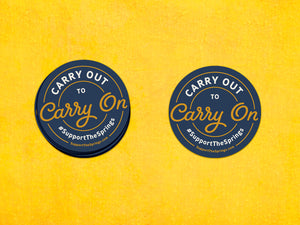 Carry out to Carry on Sticker