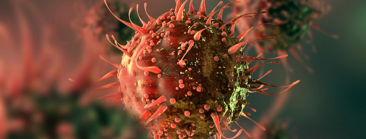 Coronavirus close up image