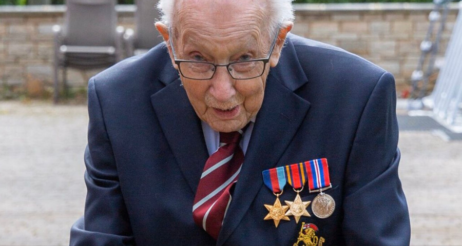War veteran Tom Moore wanted to raise £1,000 for NHS