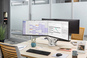 Dual Evolution Monitor Arm - Steelcase