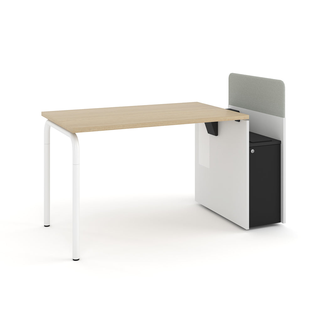 Navi Desk with Storage - Steelcase