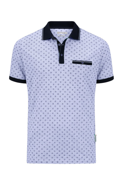 Blauwe Polo Korte Mouw Modern Fit - Polo - Giordano Tailored - Blauwe Polo Korte Mouw Modern Fit - 106578/60/S