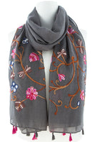 Cozy In The Flowers scarf (3 colors available)