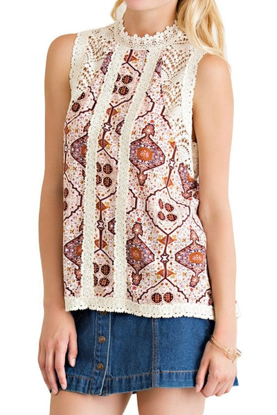 Tribal Lace Top