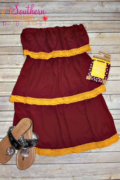 Garnet and Gold Dress