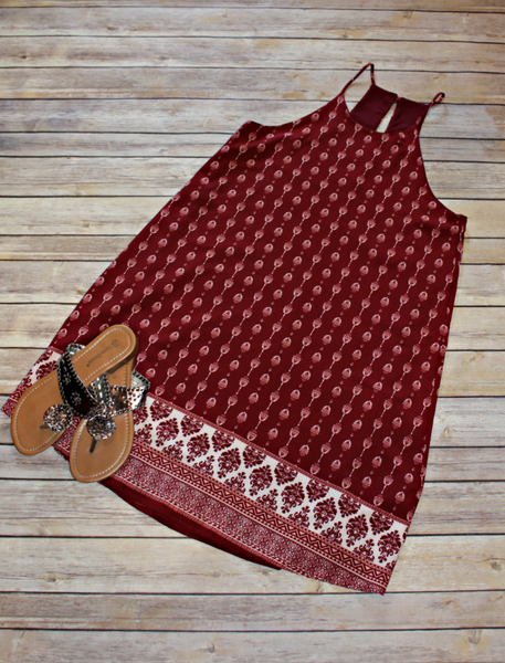 Garnet Shift Dress