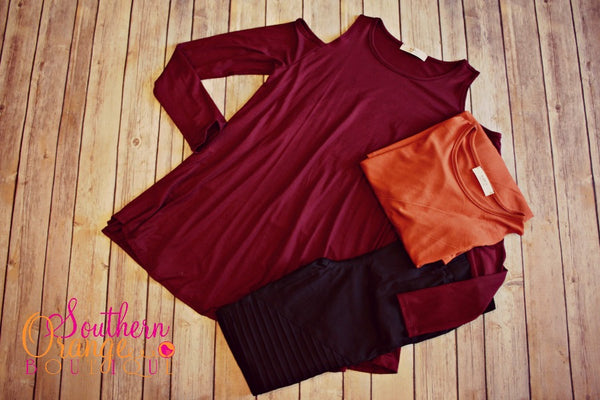 Cold Shoulder LS Top