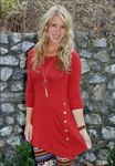 Button Trim Tunic (2 colors)