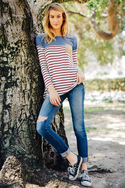 Striped in Style Top