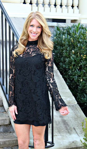 Black Tie Lace Dress