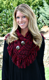 Burgundy shoulder warmer