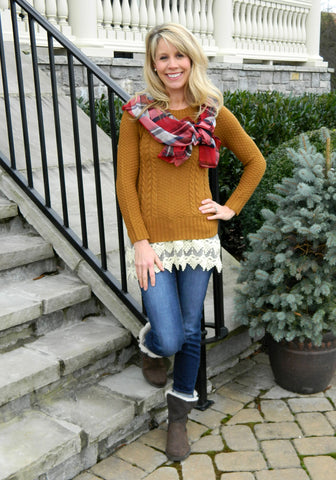Hot Cider Sweater Camel
