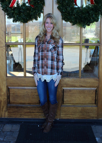 Gone Country Plaid Top