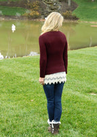 Hot Cider Sweater Garnet/Burgundy
