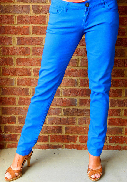 Skinny Minnie Jeggings Blue