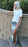 Striped Down Maxi