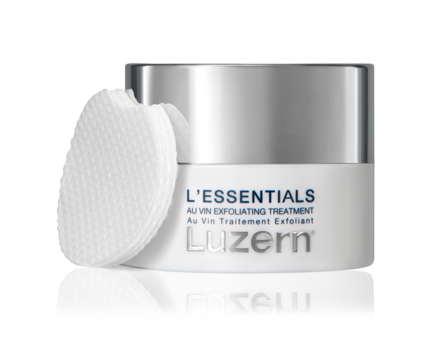 LUZERN L'ESSENTIALS AU VIN EXFOLIATING PEEL PADS