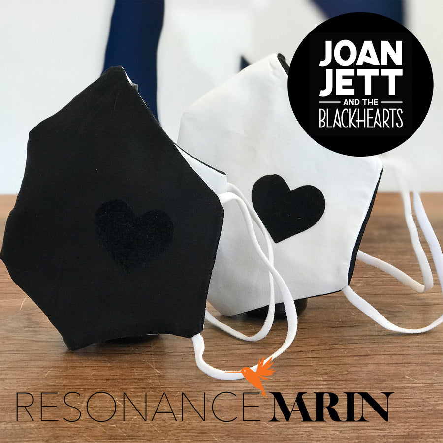 FACE MASK JOAN JETT X RESONANCE II - White Poplin and Velvet BLACKHEART
