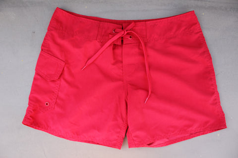 Girls Red Board Shorts
