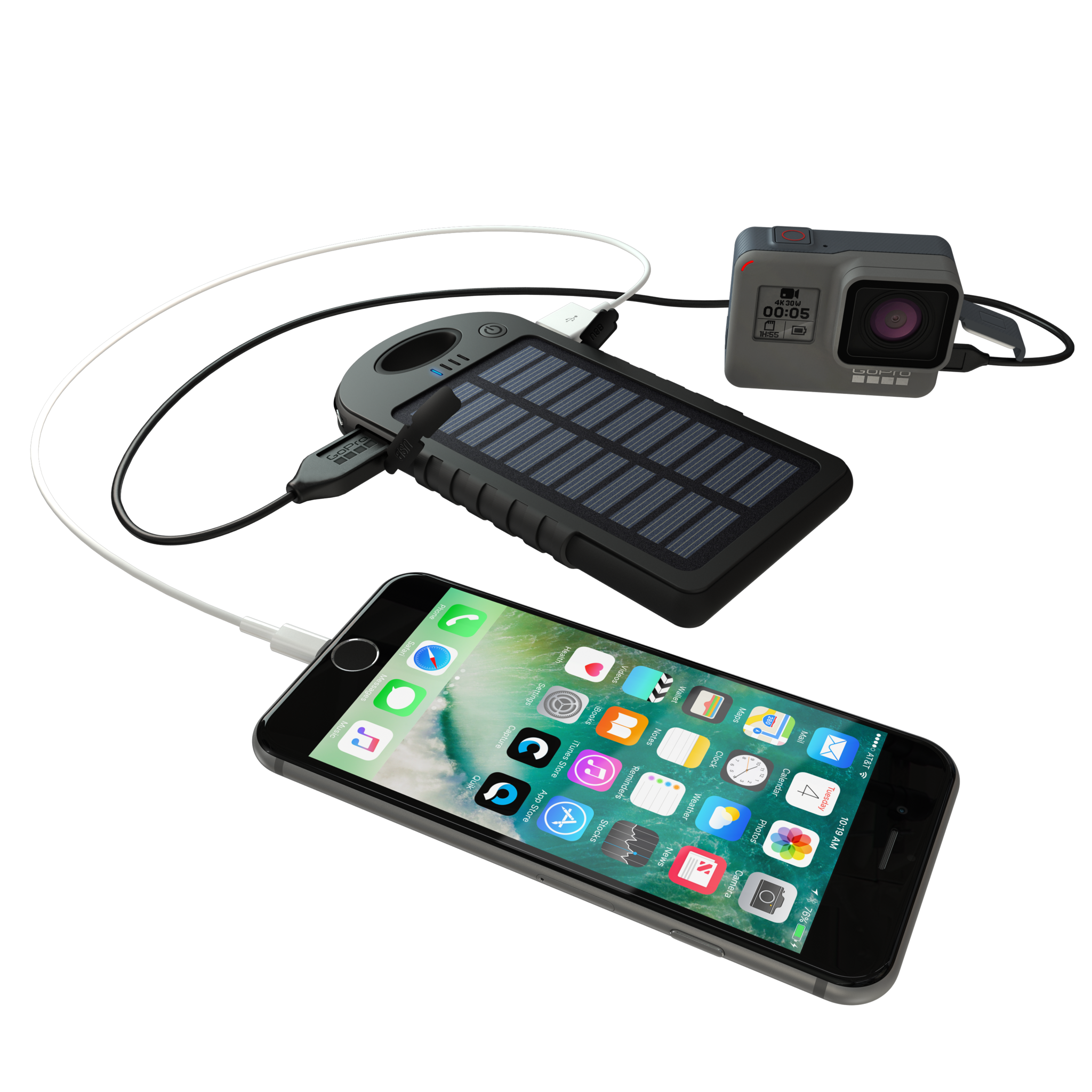 Dualcharge Gopro Amp Mobile Usb Power Bank Solar Charger