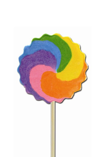 Cherry Rainbow Pinwheel Pops, Small Bright