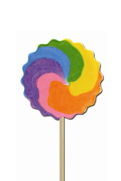 Cherry Rainbow Pinwheel Pops, Medium Bright