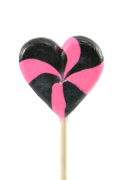 Crazy Hearts Pressed Pops, Black Cherry