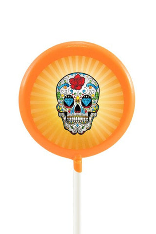 Day of the Dead, Orange Skull Lollipal