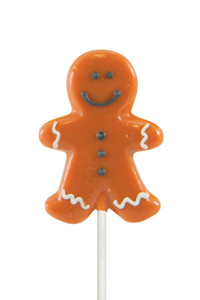 Holiday Shaped Lollipal, Gingerbread Man