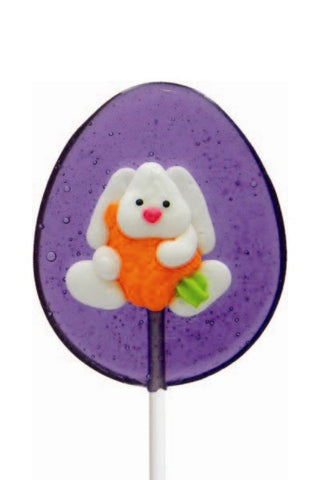 Easter Bunny with Carrot Lollipal Grape