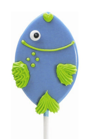 Fish Shaped Lollipal, Blue