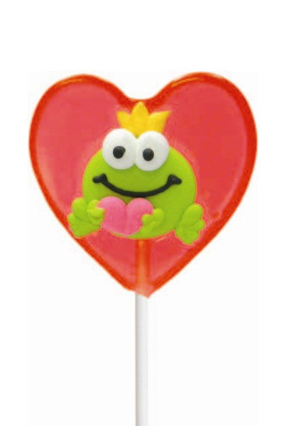 Valentine Frog Prince Heart Shaped Lollipal