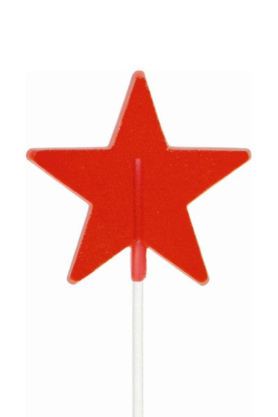 Star Shaped Lollipals, Red