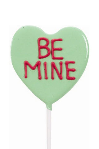 Sweet Notes Be Mine Heart Shaped Lollipal