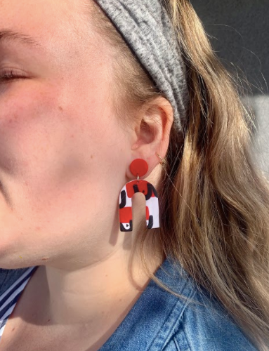 EXCLUSIVE Foxy X Mouse & Quill Clay Earrings!