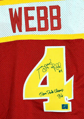 Spud Webb Atlanta Hawks Signed Autographed Red #4 Custom Jersey - Coa Sticker Only