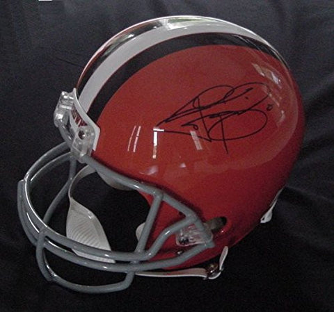 Johnny Manziel Cleveland Browns Signed Autographed Riddell Full Size Replica Helmet JSA LOA COA
