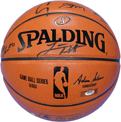 Golden State Warriors 2015-16 Team Autographed Signed Spalding NBA Game Replica Basketball PAAS COA Stephen Curry Klay Thompson Draymond Green