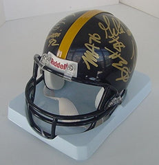 Pittsburgh Steelers 2015 Team Signed Autographed Mini Black Helmet Roethlisberger Brown Bell