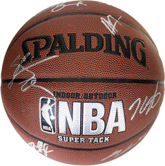Oklahoma City Thunder 2014-15 Team Autographed Signed Spalding NBA Basketball Westbrook Durant
