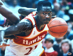 "Dominique Wilkins Atlanta Hawks Signed Autographed 11"" X 14"" Photo CAS COA"