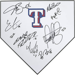 Texas Rangers 2017 Team Autographed Signed Baseball Home Plate