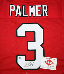 Carson Palmer Arizona Cardinals Signed Autographed Red #3 Jersey PAAS COA