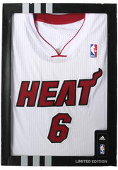 Lebron James Miami Heat Adidas Revolution Rev 30 Limited Edition White #6 Jersey Panini Authentic COA