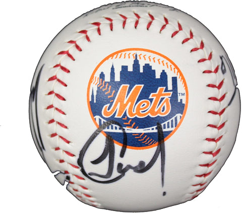 New York Mets 2015 Team Autographed Signed Rawlings Official Major League Logo Baseball AI COA Wright Syndergaard deGrom