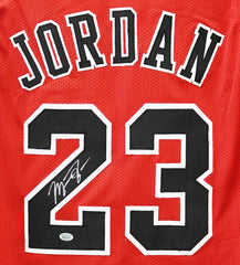 Michael Jordan Chicago Bulls Signed Autographed Red #23 Custom Jersey PP COA