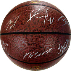 Indiana Pacers 2018-19 Team Autographed Signed Spalding NBA Basketball 10 Autographs - Oladipo Sabonis Bogdanovic