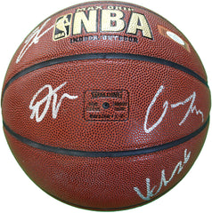 Utah Jazz 2018-19 Team Autographed Signed Spalding NBA Basketball - 10 Autographs - Mitchell Gobert