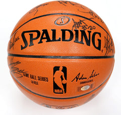 Golden State Warriors 2016-17 NBA Champions Team Autographed Signed Spalding NBA Game Replica Basketball Durant Curry Thompson Green